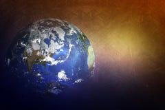 Ziemska kula ziemska z światłem Fotografia Royalty Free