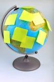 ziemska kula ziemska zauważa kolor żółty Fotografia Royalty Free