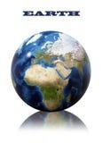 Ziemska kuli ziemskiej mapa ilustracja wektor