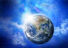 ziemska ludzkość interliniuje wszechświat Fotografia Royalty Free