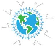 ziemska miłość ochraniająca nasz planeta royalty ilustracja