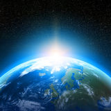 Ziemska planeta przeglądać od przestrzeni