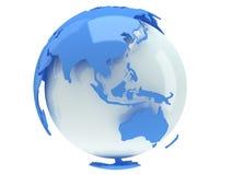 Ziemska planety kula ziemska. 3D odpłacają się. Porcelanowy widok. Obrazy Royalty Free