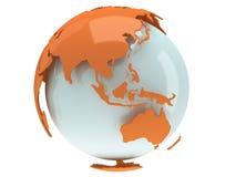 Ziemska planety kula ziemska. 3D odpłacają się. Porcelanowy widok. Fotografia Royalty Free