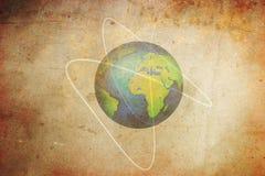 ziemska stara planeta ilustracja wektor