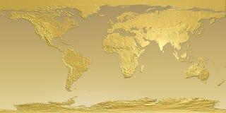ziemska złota mapa Zdjęcie Stock