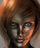 ziemska z włosami czerwona technika Zdjęcie Royalty Free