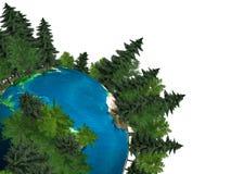 ziemska zielona planeta Zdjęcie Royalty Free