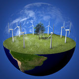 ziemska zielona planeta Zdjęcie Stock