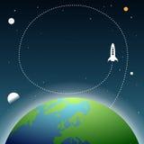 Ziemski Astronautyczny Copyspace Obrazy Stock
