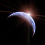 ziemski astronautyczny wschód słońca Fotografia Stock