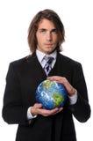 ziemski biznesmena mienie Fotografia Stock