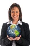 ziemski bizneswomanu mienie Zdjęcia Royalty Free