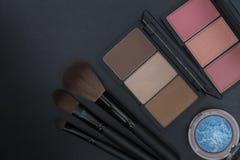 Ziemski brzmienie, pomarańcze i brąz, tonujemy makeup set Zdjęcie Stock