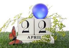 Ziemski dzień, Kwiecień 22, pojęcie wizerunek Zdjęcia Stock
