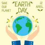 Ziemski dzień, 22 Kwiecień, Save nasz planetę Obrazy Stock