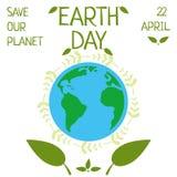 Ziemski dzień, 22 Kwiecień, Save nasz planetę Zdjęcia Stock