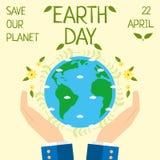 Ziemski dzień, 22 Kwiecień, Save nasz planetę Zdjęcia Royalty Free