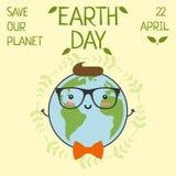 Ziemski dzień, 22 Kwiecień, Save nasz planetę Obraz Royalty Free