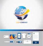 Ziemski logo ikony 3d symbol Zdjęcia Stock