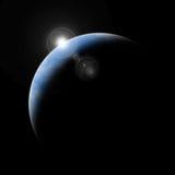 ziemski planety przestrzeni wschód słońca Zdjęcie Royalty Free