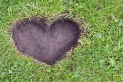 ziemski pojęcia serce Obraz Stock
