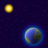 ziemski słońce Obraz Royalty Free