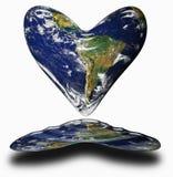 ziemski serce Obrazy Royalty Free