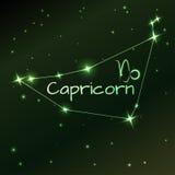 Ziemski symbol Capricorn zodiaka znak, horoskop, wektorowa sztuka i ilustracja, Zdjęcia Stock