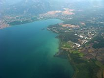 Ziemski widok z samolotu Zdjęcia Royalty Free
