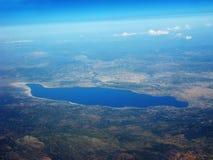 Ziemski widok z samolotu Zdjęcia Stock