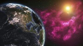 Ziemski Wirować Światowy przędzalnictwo, Pełny obracanie - Realistyczna planeta Obraca 360 stopni Elementy ten wizerunek meblując royalty ilustracja
