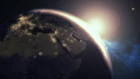 Ziemski wschód słońca ilustracja wektor