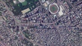 Ziemski Zbliża Wewnątrz zoom Za Dhaka Bangladesz zbiory wideo