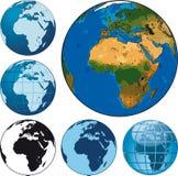 Ziemskie kule ziemskie ilustracji