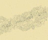 Ziemskiego dnia Doodle ilustracja wektor