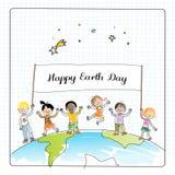 Ziemskiego dnia dzieci ilustracji