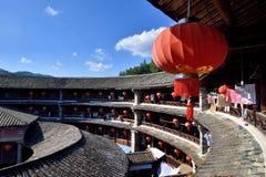 Ziemskiego kasztelu inside budowa, południe Chiny Zdjęcie Royalty Free