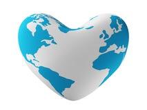 ziemskiej formy serce Zdjęcia Stock