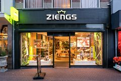 Ziengs branch in Sneek, the Netherlands stock images