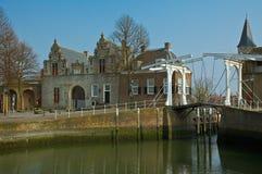 Zierikzee. View on the harbour from Zierikzee stock photography