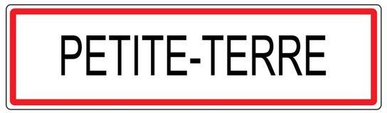 Zierliche Terre-Stadt-Verkehrszeichenillustration in Frankreich Stockbilder
