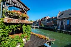 Zierliches Frankreich in Straßburg Stockfotos