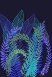Ziet de hand getrokken kunst geverfte grunge achtergrond met Japanse stijlinkt antiqued randachtergrond in indigoblauw eruit royalty-vrije illustratie