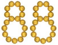 Ziffer 88, achtundachzig, von den dekorativen Bällen, lokalisiert auf whi Lizenzfreie Stockfotografie