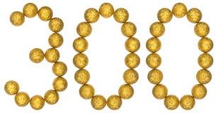 Ziffer 300, drei hundert, von den dekorativen Bällen, lokalisiert auf w Lizenzfreie Stockfotografie