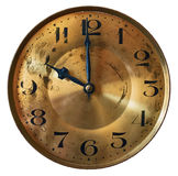 Zifferblatt der großväterlichen Uhr der Weinlese lokalisiert auf weißem Hintergrund Stockfotos