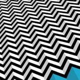Zig Zag. Black zigzag background on white with blue Royalty Free Stock Images