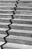 Zig-Zag. Shadow on a staircase to an office Stock Photography