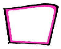 Zig Zag Abstract Border 2. A border illustration of an abstract shaped square with zig zag edges in black and pink Royalty Free Stock Photography